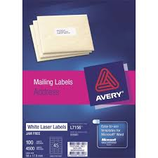 avery quick peel laser labels l7156 white 45 per sheet officemax nz