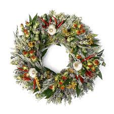 herb wreath herb garlic wreath williams sonoma