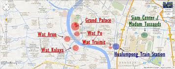 bangkok map tourist attractions bangkok map tourist attractions major tourist attractions maps