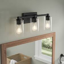 gallego 3 light glass shade vanity light union rustic mcdowell 3 light vanity light with clear seeded glass