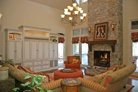 Fireplace Entertainment Center Family Room Traditional With Corner - Family room entertainment