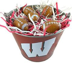 sports easter baskets ncaa easter basket wisconsin badgers sports