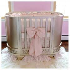 Oval Crib Bedding Customized Circle Cribs Fir Nursery Furnishing Ideas Beautiful