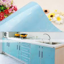 gloss blue flower pvc contact paper kitchen cupboard door cover