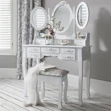 coiffeuse blanche si e avec miroir inclus coifeuse avec miroir et tabouret achat vente coifeuse avec
