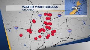 atlanta s freezing temperatures cause 38 water breaks in 3