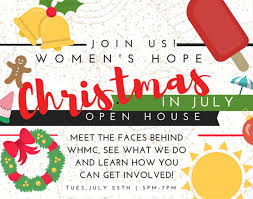 christmas in july open house