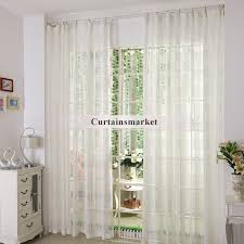 white sheer curtains made of polyester fabrics