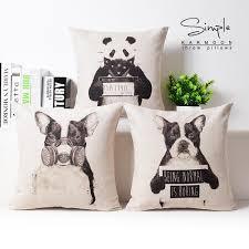 45x45cm black and white panda dog sofa cushion covers creative
