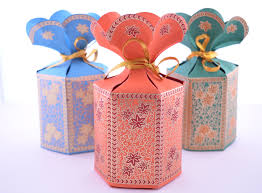 wedding gift boxes favor gift box with flower top wedding favor by penandfavor on zibbet