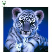 aliexpress com buy embroidery mosaic novelty tiger and