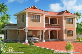 duplex sloping roof hoe sq ft kerala home design and makeovers