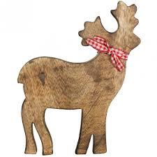 7 wooden reindeer ornament wax2047 craftoutlet