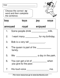phonics worksheets oy and oi sounds by coreenburt teaching