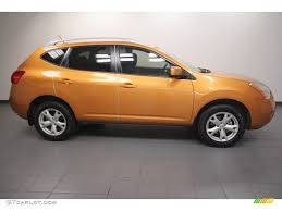 orange nissan rogue orange alloy metallic 2008 nissan rogue sl exterior photo