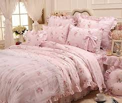 Shabby Chic Skirts by Sisbay New Design Girls Wedding Bed Set Queen Pink Shabby Chic