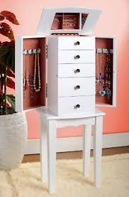 Armoire Chest Of Drawers Amazon Com White Jewelry Armoire Chest Kitchen U0026 Dining