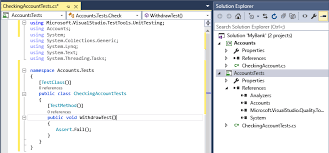 command pattern unit test unit test basics in visual studio visual studio microsoft docs