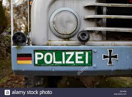 police truck old east german police truck stock photo royalty free image