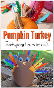 pumpkin turkey thanksgiving fine motor craft gift of curiosity