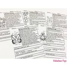 spring break homework packet fabulous figs