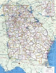 Detailed Map Of United States by Georgia County