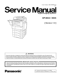 service manual image scanner fax