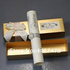 Scroll Wedding Cards Design With Price Compare Prices On Scrolling Wedding Invitation Online Shopping