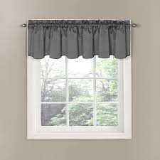 Valances For Kitchen Windows Ideas Bedroom Black Out Valance Curtain Grey Finish For Cozy Kitchen