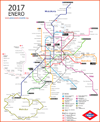 Metro Redline Map Madrid Metro Map Updated 2017