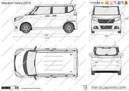 mitsubishi delica 2016 the blueprints com vector drawing mitsubishi delica