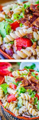 easy blt pasta salad the food charlatan