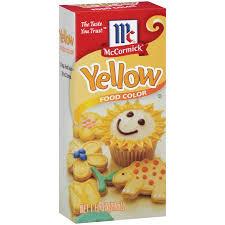 mccormick yellow food coloring 1 fl oz walmart com