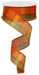 fall ribbon 1 5x10yds plaid fall ribbon wired fall ribbon fall wired ribbon