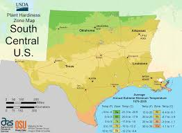 map us south south central us plant hardiness zone map mapsof net