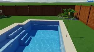 fiberclassy pools 3d pool design the elegance 26 youtube
