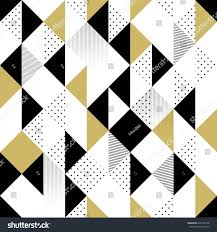 Black And White Designs Abstract Seamless Pattern Seamless Pattern Triangles Stock Vector