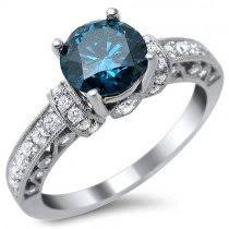 blue engagement rings unique blue engagement rings and wedding ring blue