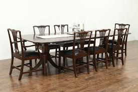 mahogany dining room set georgian style vintage solid mahogany dining table 2 leaves