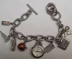 fossil silver bracelet images Fossil nyc new york city charm bracelet watch es 1344 jpg