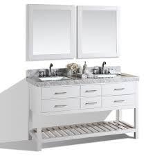 White Modern Bathroom Vanity by 60
