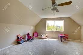 Kids Room Carpet by Vaulted Ceiling Kids Room With Toys Room Has Carpet Floor And