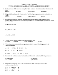 chemistry single replacement reaction worksheet