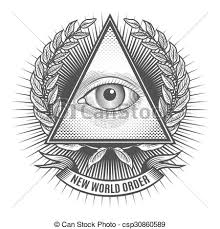 all seeing eye in delta triangle pyramid and freemasonry