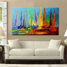 painting a living room tree painting on canvas wall art paintings for living room 3 decor 0