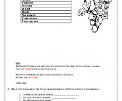 and emphatic pronouns worksheet