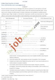 Hr Resume Template Director Of Human Resources Resume Hr Executive Samples India Sam
