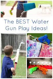 backyard water gun games home outdoor decoration