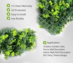 plastic mint leaves panels garden diy decorative artificial plants