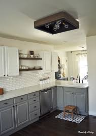 kitchen cabinets gray bottom white top kitchen makeover by creatively living